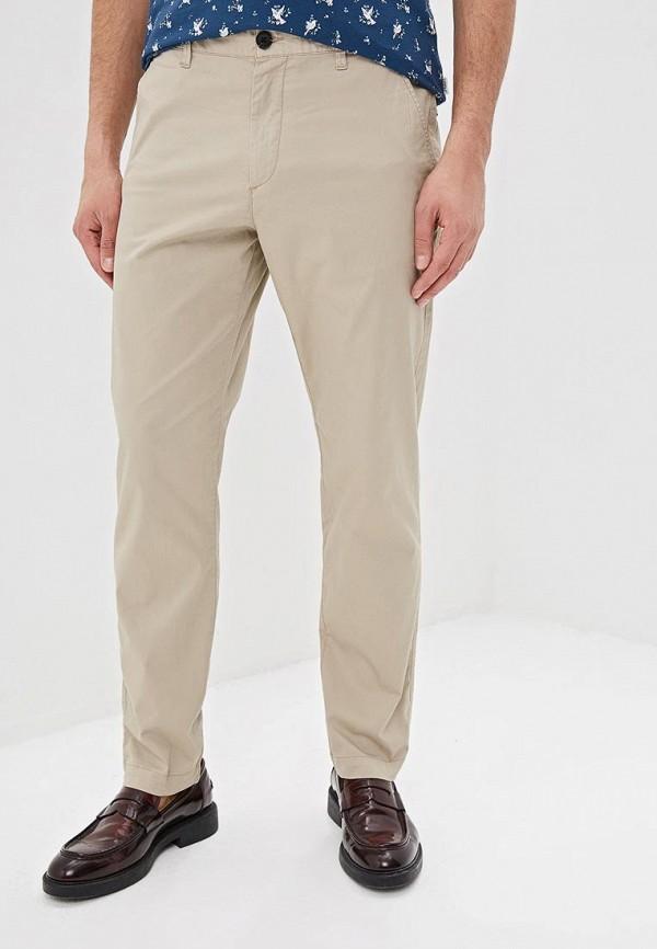 мужские брюки чинос selected homme, бежевые