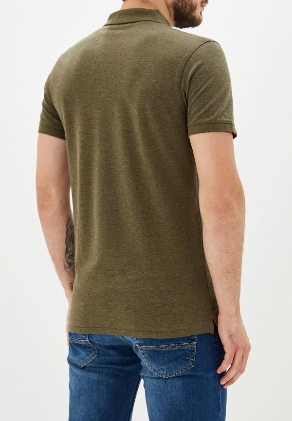 Фото 3 - мужское поло Selected Homme зеленого цвета