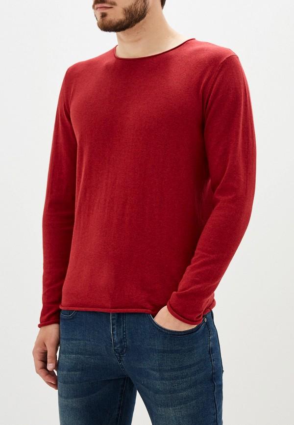 Фото 4 - мужское джемпер Selected Homme бордового цвета
