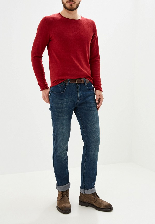 Фото 2 - мужское джемпер Selected Homme бордового цвета