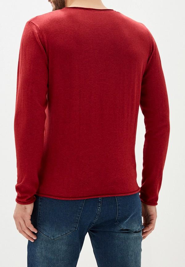 Фото 6 - мужское джемпер Selected Homme бордового цвета