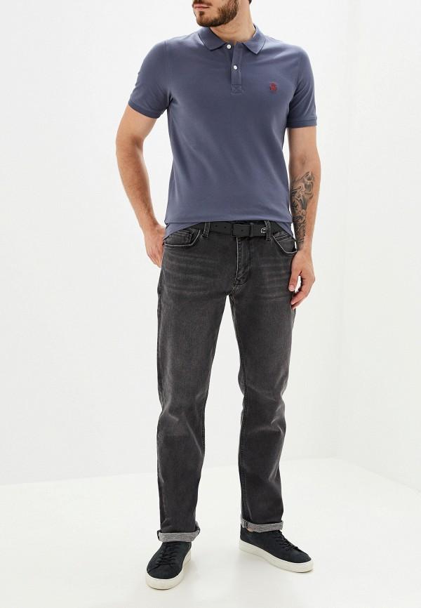 Фото 2 - мужское поло Selected Homme серого цвета