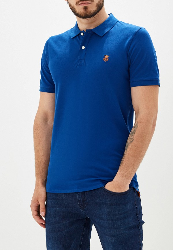 мужское поло selected homme, синее