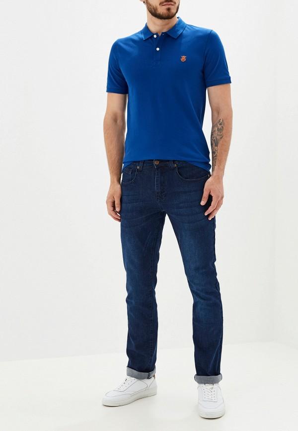Фото 2 - мужское поло Selected Homme синего цвета