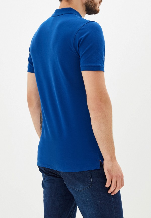 Фото 3 - мужское поло Selected Homme синего цвета