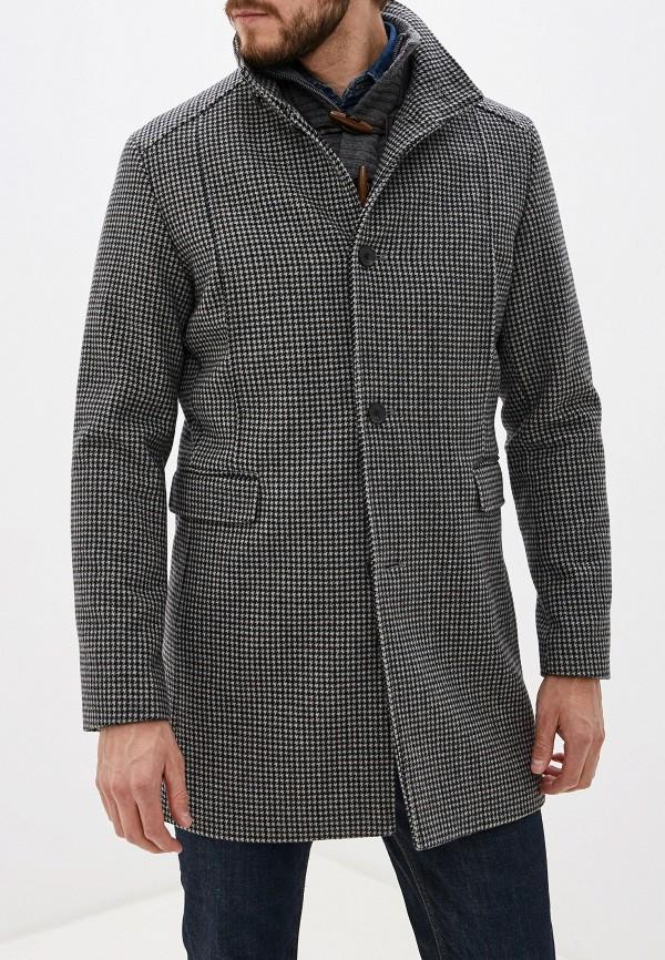 мужское пальто selected homme, серое