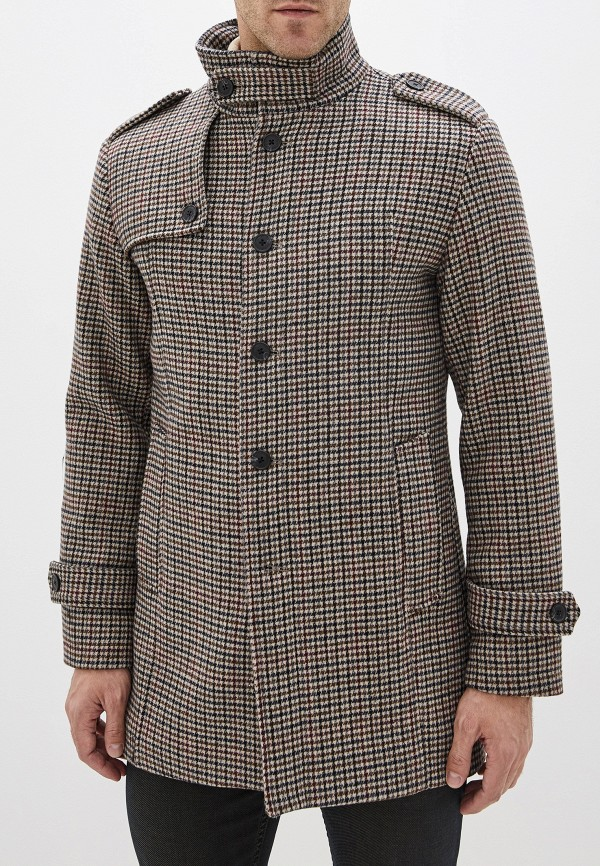 мужское пальто selected homme, бежевое