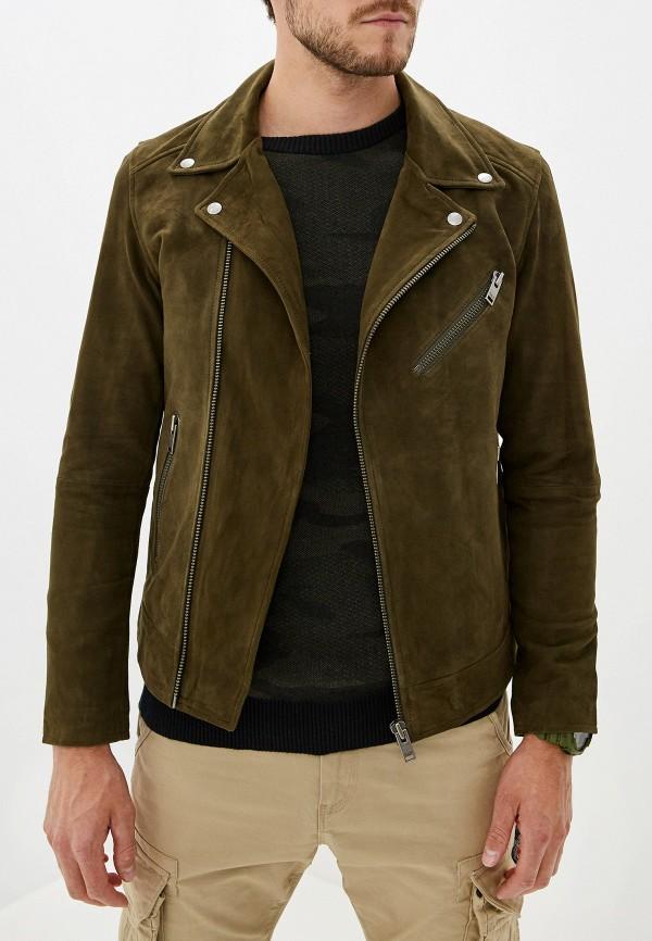 Куртка кожаная Selected Homme Selected Homme SE392EMFKVD4 цена