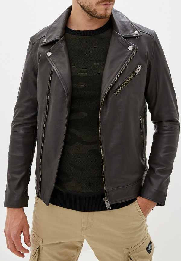 Куртка кожаная Selected Homme Selected Homme SE392EMFKVD5 цена