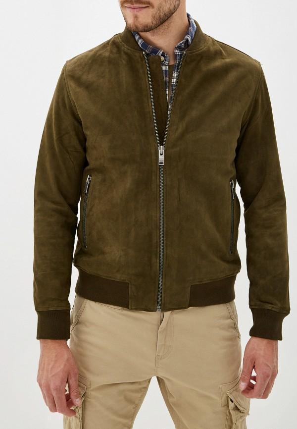 мужская куртка selected homme, зеленая