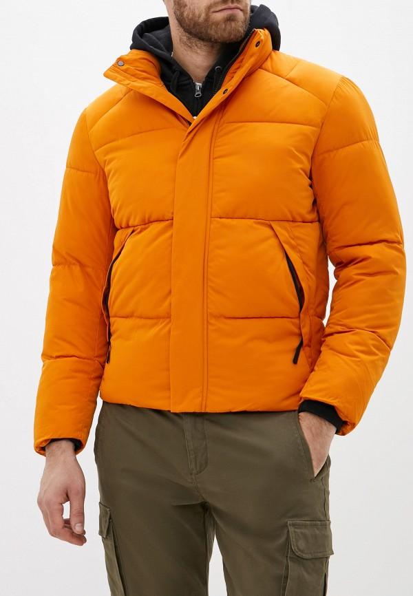 мужская куртка selected homme, оранжевая