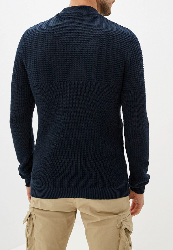 Фото 3 - Мужской свитер Selected Homme синего цвета