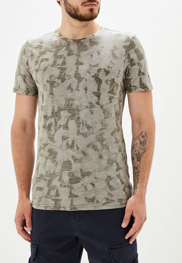 мужская футболка с коротким рукавом selected homme, хаки