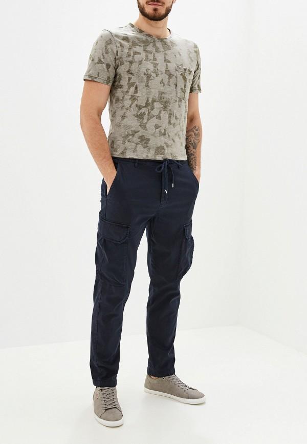 Фото 2 - мужскую футболку Selected Homme цвета хаки