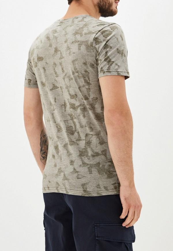 Фото 3 - мужскую футболку Selected Homme цвета хаки