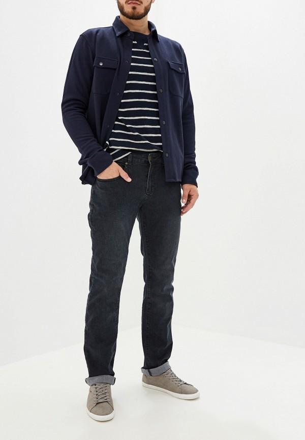 Фото 2 - мужскую рубашку Selected Homme синего цвета
