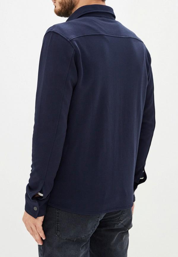 Фото 3 - мужскую рубашку Selected Homme синего цвета