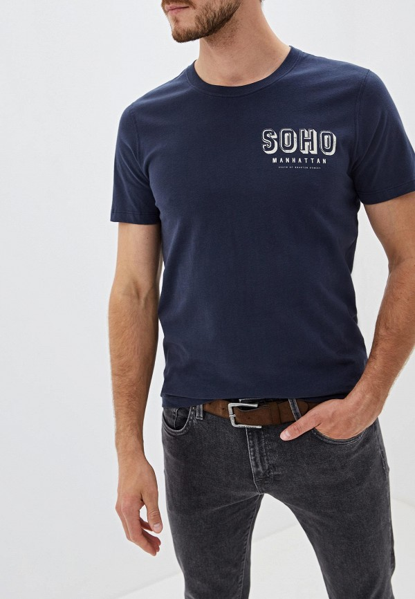 Фото - мужскую футболку Selected Homme синего цвета