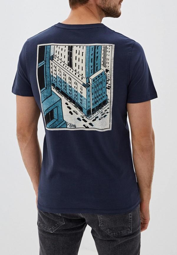 Фото 3 - мужскую футболку Selected Homme синего цвета