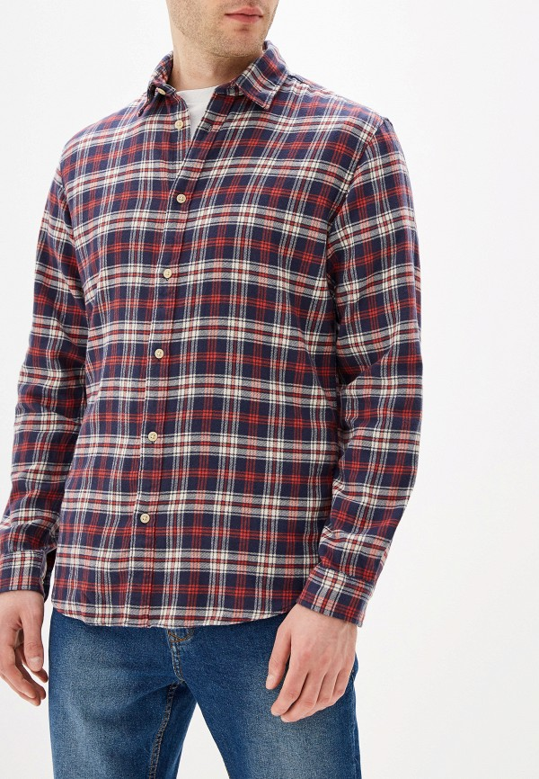 мужская рубашка с длинным рукавом selected homme, разноцветная