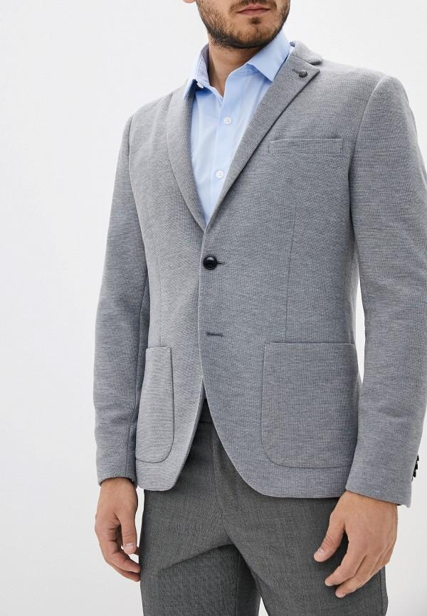 мужской пиджак selected homme, серый