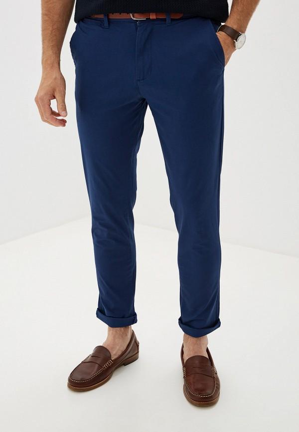 мужские зауженные брюки selected homme, синие