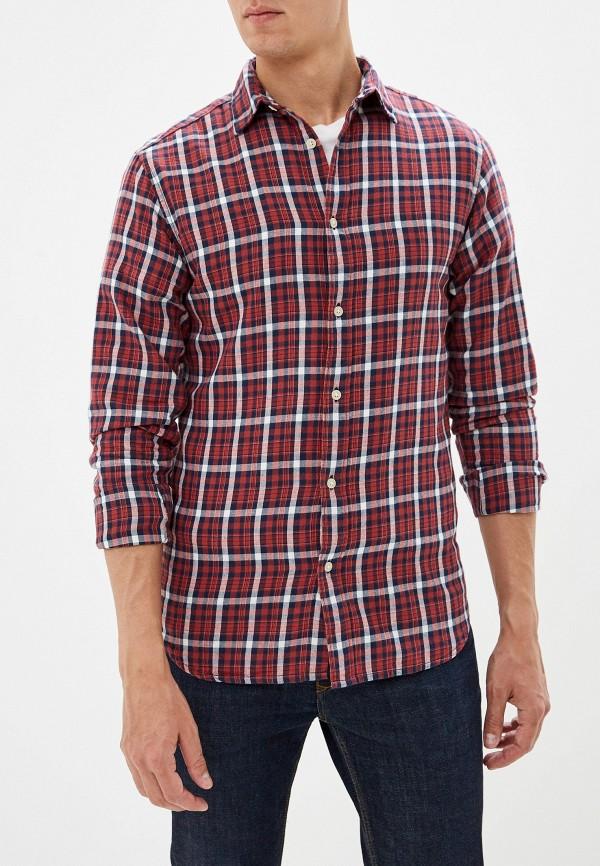 мужская рубашка с длинным рукавом selected homme, бордовая