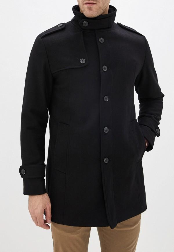 мужское пальто selected homme, черное