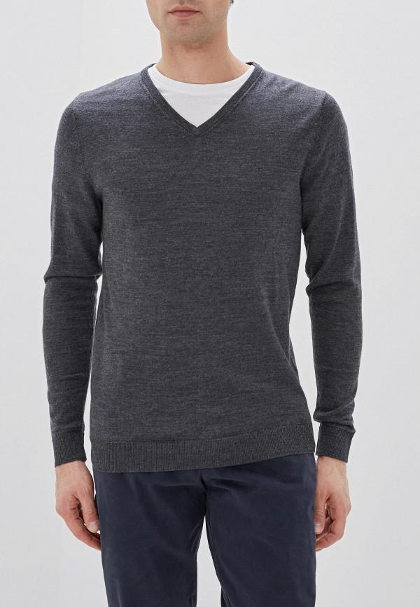 мужской пуловер selected homme, серый