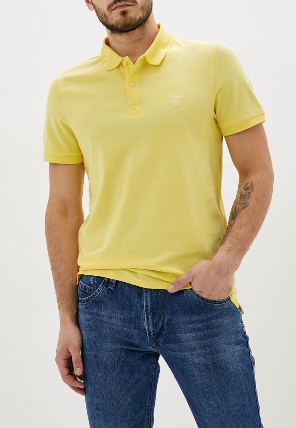 мужское поло selected homme, желтое