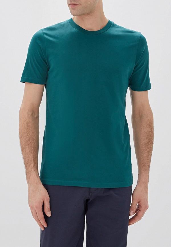 мужская футболка с коротким рукавом selected homme, зеленая