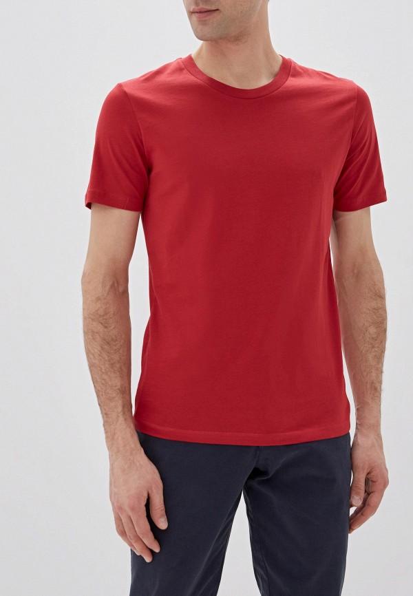 мужская футболка с коротким рукавом selected homme, красная