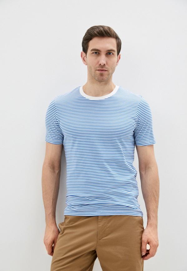 мужская футболка с коротким рукавом selected homme, голубая