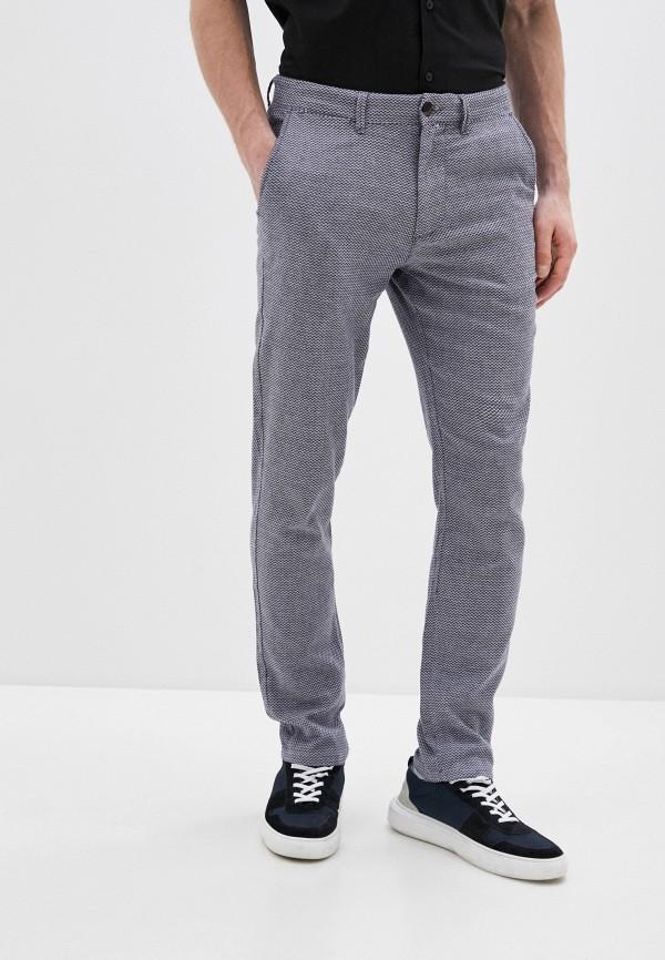 мужские зауженные брюки selected homme, серые