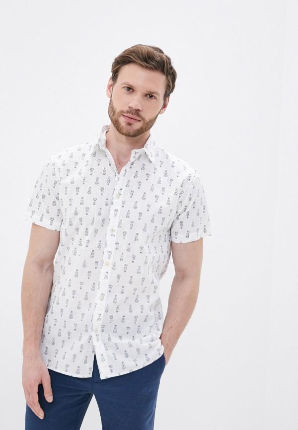 мужская рубашка с коротким рукавом selected homme, белая