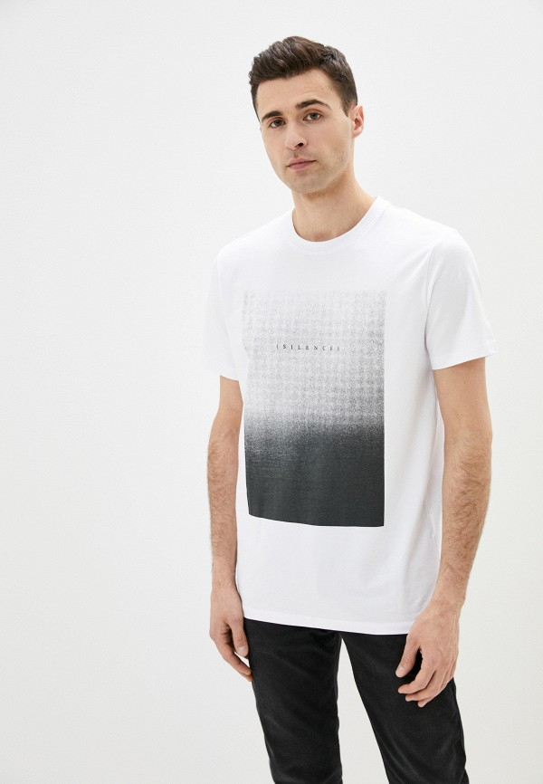 мужская футболка с коротким рукавом selected homme, белая