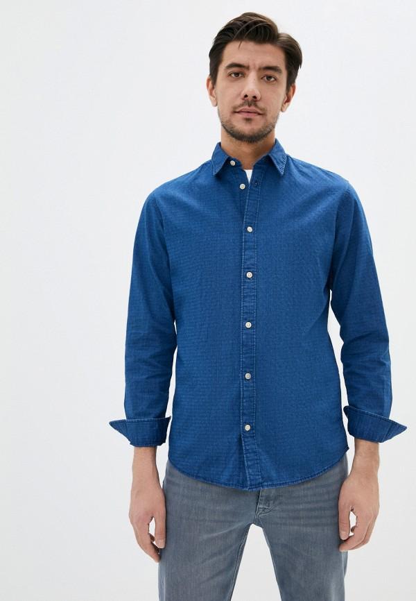 мужская джинсовые рубашка selected homme, синяя