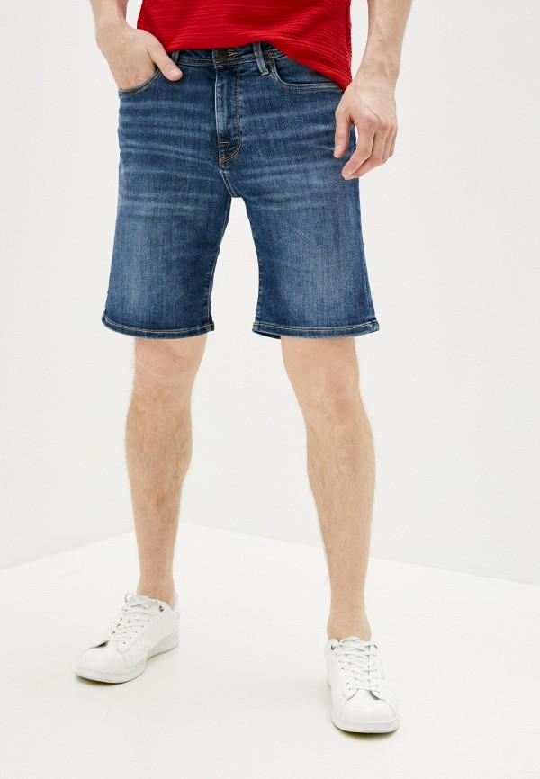 мужские джинсовые шорты selected homme, синие