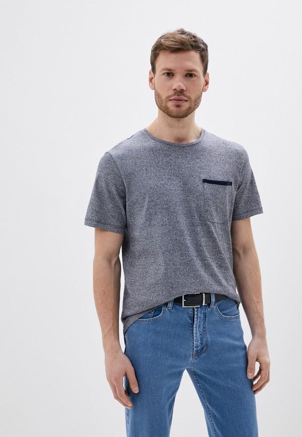 мужская футболка с коротким рукавом selected homme, серая