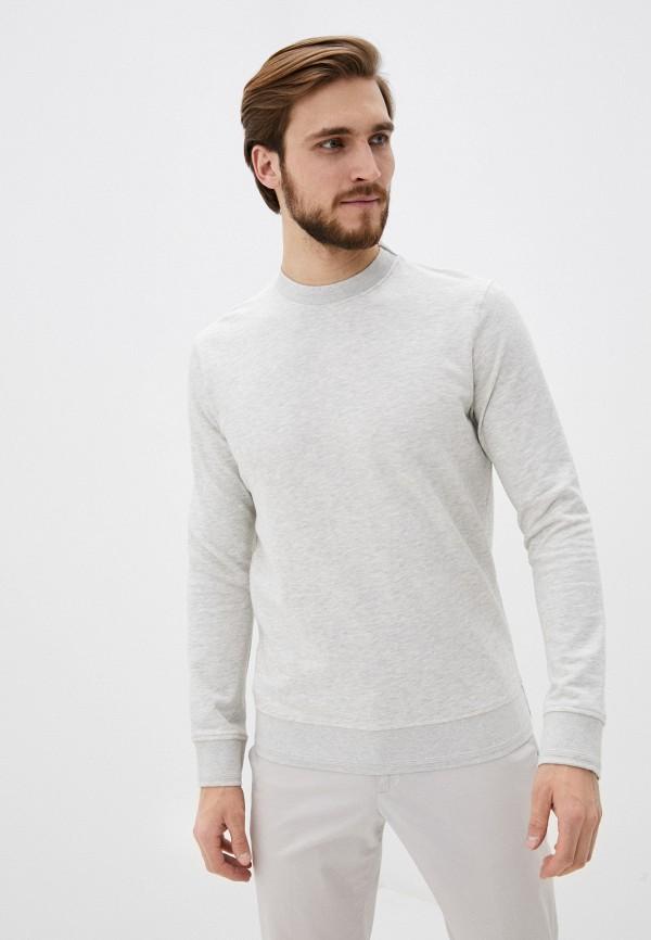 мужской свитшот selected homme, серый