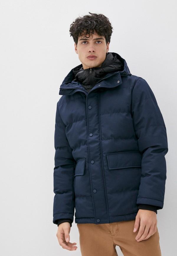 мужская куртка selected homme, синяя