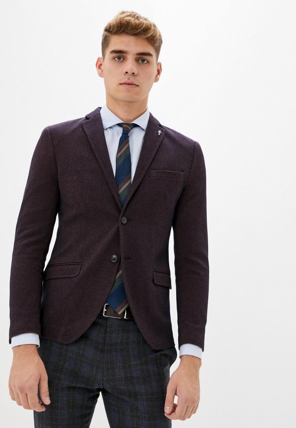 мужской пиджак selected homme, бордовый