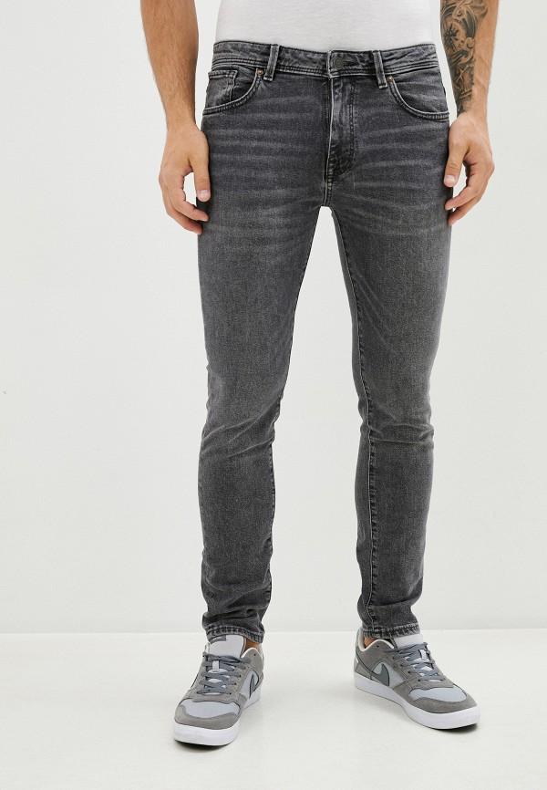 мужские зауженные джинсы selected homme, серые