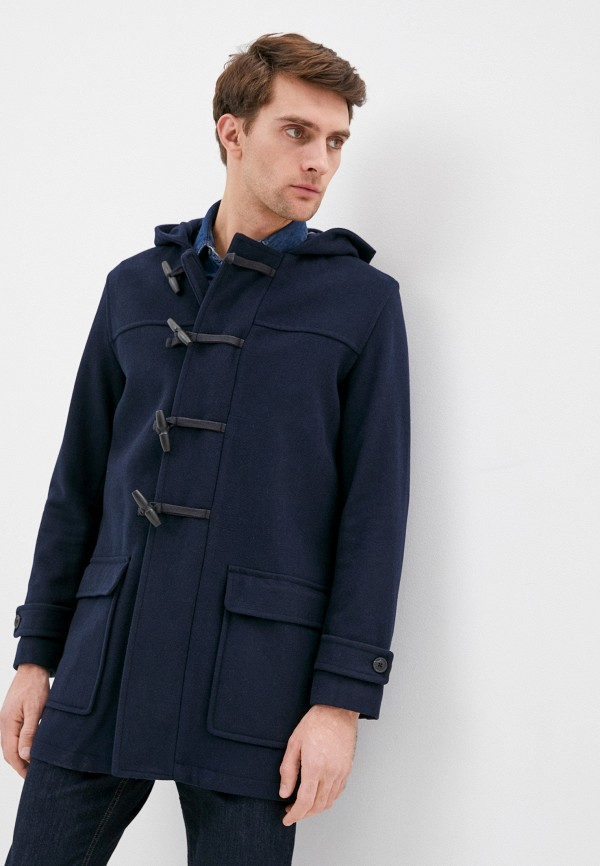 мужское пальто selected homme, синее