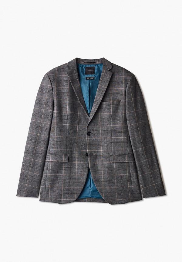 мужской пиджак selected homme, коричневый
