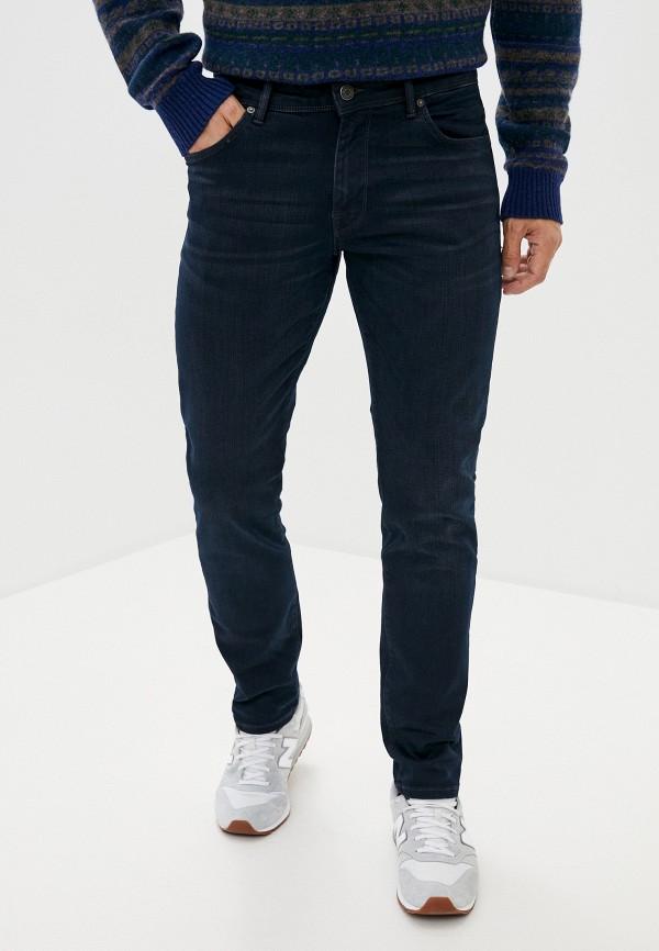 мужские зауженные джинсы selected homme, синие