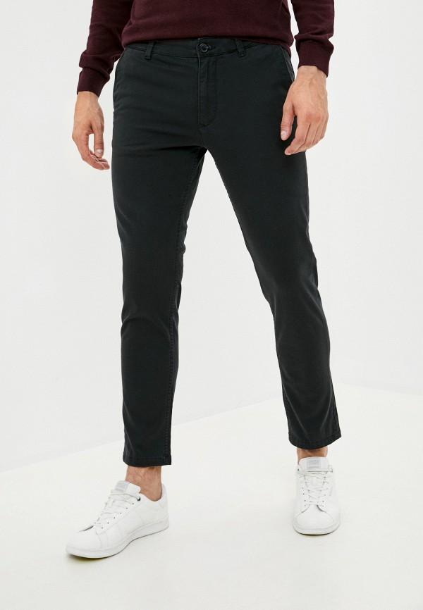 мужские зауженные брюки selected homme, черные