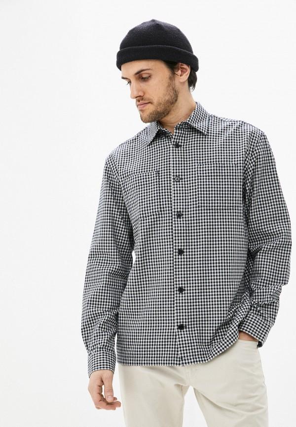 мужская рубашка с длинным рукавом selected homme, черная