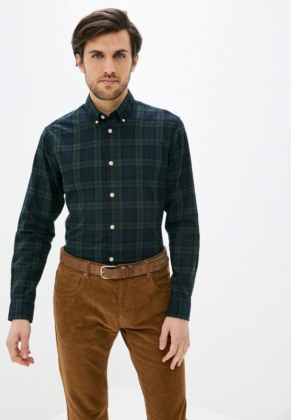 мужская рубашка с длинным рукавом selected homme, зеленая