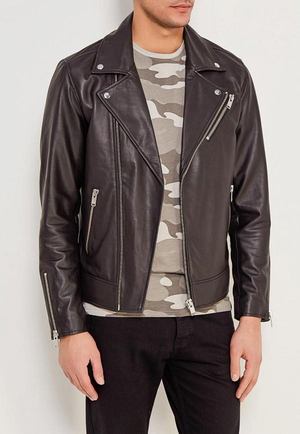 Куртка кожаная Selected Homme Selected Homme SE392EMZBH50 solid homme куртка